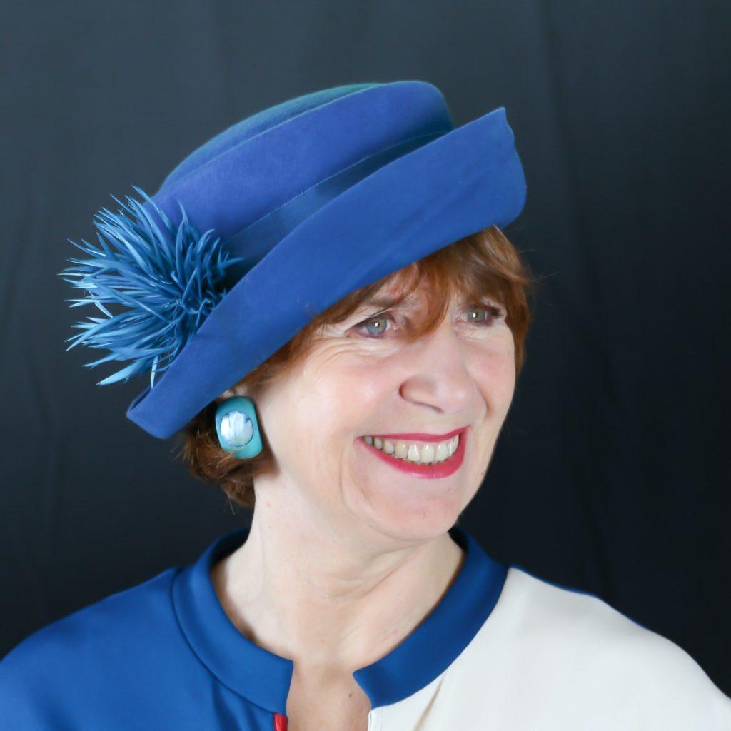 Chapeau feutre Bleu Dur